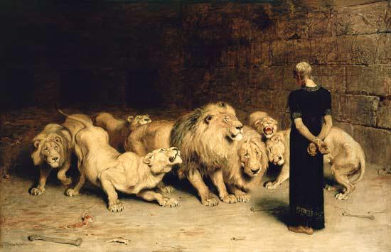 خضوع شیران درمقابل دانیال نبی (ع)